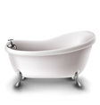 White bathtub vector image vector image