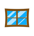 window cartoon symbol icon design vector image