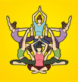yoga class women training graphic vector image