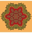 Yoga Green and Red Oriental Mandala Abstract vector image vector image
