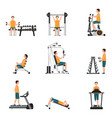 fitness cardio exercise and equipment vector image