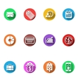 Business and finance flat design icons set vector image