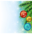 Festive background for New Year and Christmas vector image