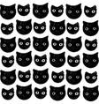 funny kitten pattern hand drawn art vector image