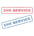 24h service textile stamps vector image