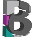 3d font letter b vector image