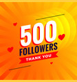 500 followers social media network background vector image vector image