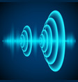 abstract digital sound wave sine wave on dark vector image vector image
