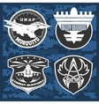 Air Force military emblem set design vector image vector image