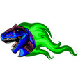 allosaurus with flame design vector image vector image