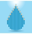 Background with blue pencils vector image