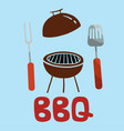 bbq turner fork grill background image vector image vector image