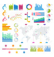 big set infographics elements graphics vector image