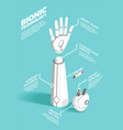bionics technology isometric composition vector image vector image