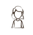 blurred silhouette caricature faceless half body vector image vector image
