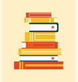 books collection with bookmark vector image vector image