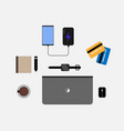business workplace and freelance tools job vector image vector image