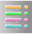 buttons web glass colorful v4 vector image