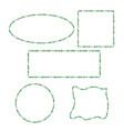 candy cane frames border set square circle vector image