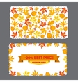 Card with discount of 20 percent Autumn flyer vector image vector image