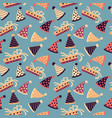 celebratory seamless pattern birthday pattern vector image