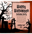 Cemetery and brown hand zombie party costumes vector image vector image