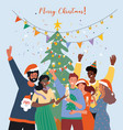 christmas party concept vector image