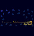 class 2020 congratulation graduate vector image vector image