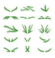 collection of hand drawn christmas tree vector image