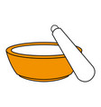 color silhouette with bowl and spatula for beauty vector image vector image