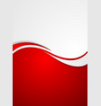corporate background flyer with waves vector image vector image
