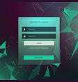 creative login ui template form design with vector image vector image