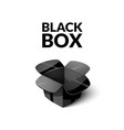 empty cardboard packaging open box icon in vector image vector image