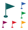 flag marker icon vector image