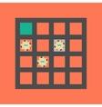 flat icon on stylish background poker table vector image