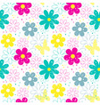 flower seamless patterns vector image vector image