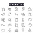 flyer line icons for web and mobile design vector image