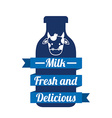 fres milk vector image
