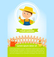 gardener with flower vector image
