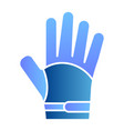 glove flat icon warm clothes color icons in vector image vector image