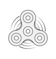 hand spinner template vector image