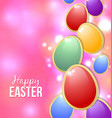 Happy Easter card background vector image vector image