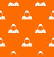 hood pattern seamless vector image vector image