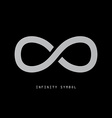 Infinity Symbol on Dark Background