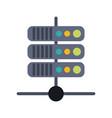 internet servers technology vector image vector image