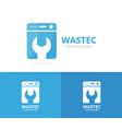 laundry logo combination washing vector image