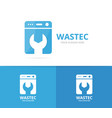 laundry logo combination washing vector image vector image