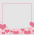 love background element heart for wedding concept vector image vector image