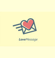 love message delivery logo sign or symbol vector image vector image
