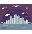 Night cityscape - flat vector image